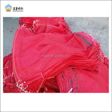Fresh onion holding UV protection knitted plastic mesh bag with strong wide drawstring