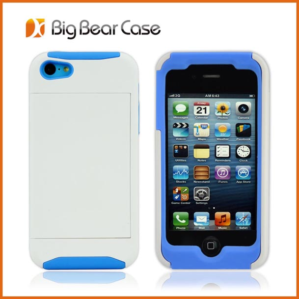 High quality for iphone 5c hybrid rugged kickstand case