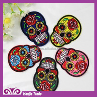 wholesale New desgin embroidery applique paste skull patch for clothing