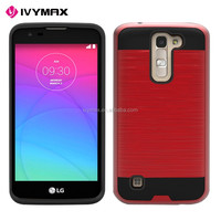 IVYMAX hot sell 2016 plastic TPU material hybrid hard case cover for LG K7