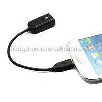 New Micro USB OTG Cable for Samsung Galaxy S2 S3 S4 i9500 i9300 i9100 Note N7000 i9220 OTG Cable Adapter Black