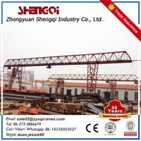 Manufacture electrical power rail track mh gantry small construction crane