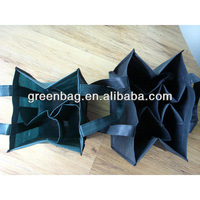 6 bottle non woven wine bag with dividers