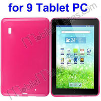 "Hot Sell Universal Smooth Silicone Back Cover Case for All 9"" Tablet PC"