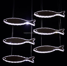 Modern Metal Chandelier fish Dining Room Lamps chanderlier pendant lighting or indoor lamp