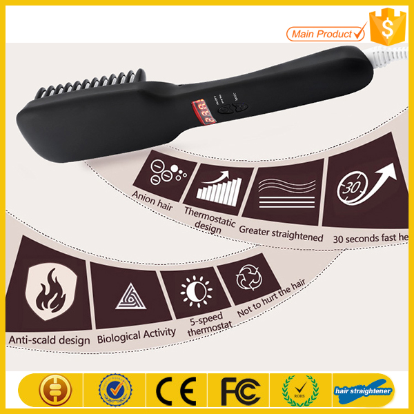 2016 Brush Hair Straightener Comb Irons Electric Straight Hair Comb