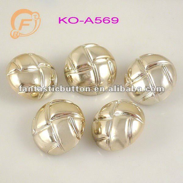 rose gold football shape abs plastic button