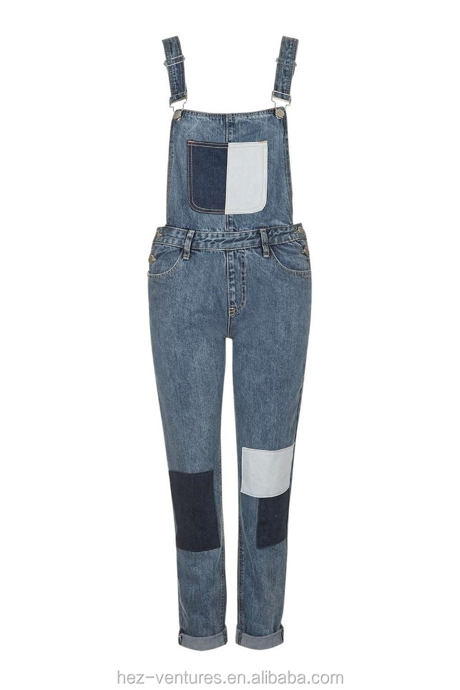 young ladies denim overalls hot style jeans slim fit denim overalls