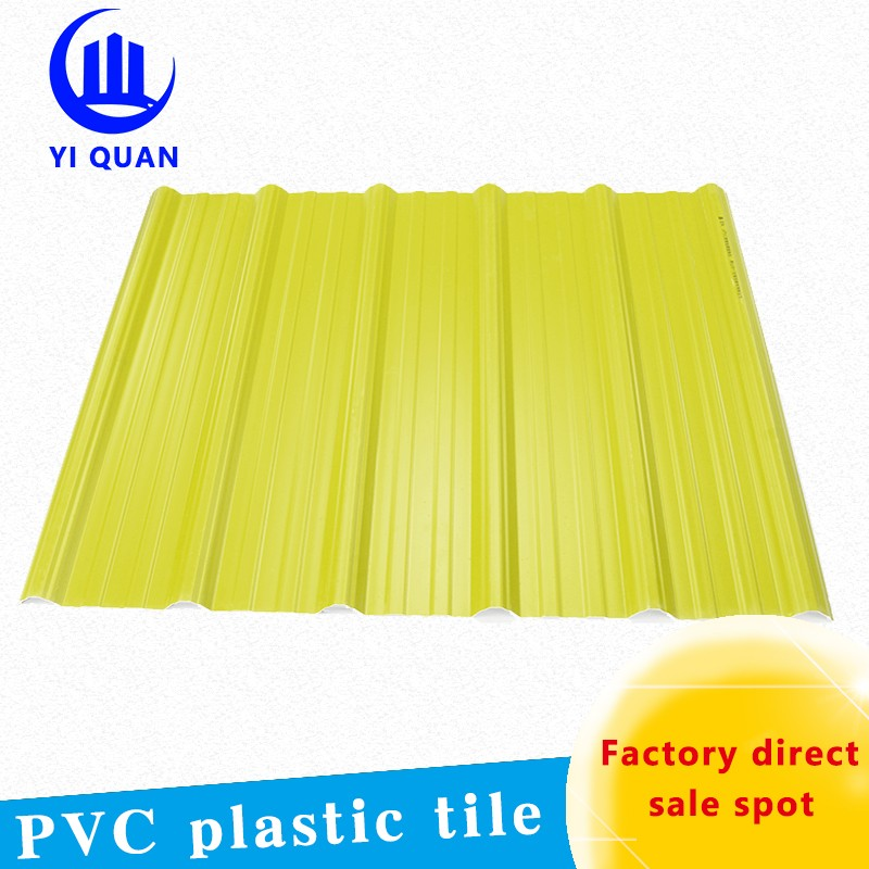 Apvc long span life time plastic roof covering