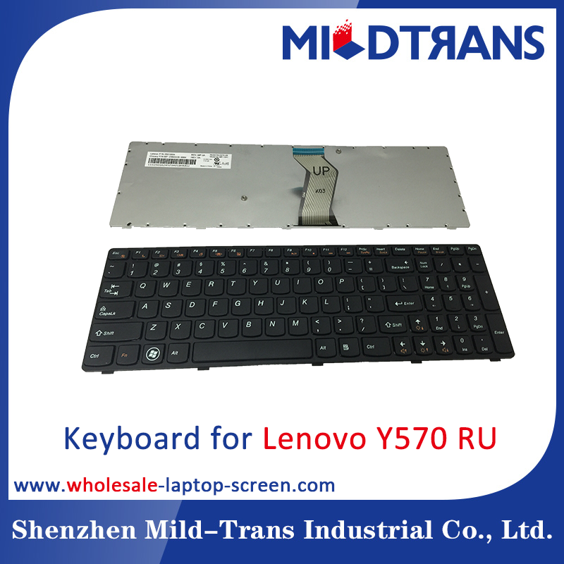 High quality laptop Keyboard for Lenovo Y570 RU SP BR Italian Russian Layout