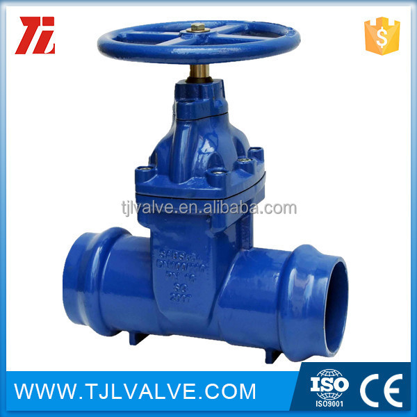 stem resilient 5inch handwheel ansi 125\/150 non-rising stem resilient soft seated cast iron gate valves for water socke