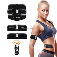 Wireless remote control body shape exercise instrument EMS TENS MIC IF