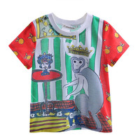 2016 Newest Hot Selling Boys T-shirt With Animal Printed Kids Top Fashion Boys Clothes BT90318-18L
