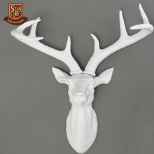 OEM custom made handmade carved hot new product resin deer antler wall decor
