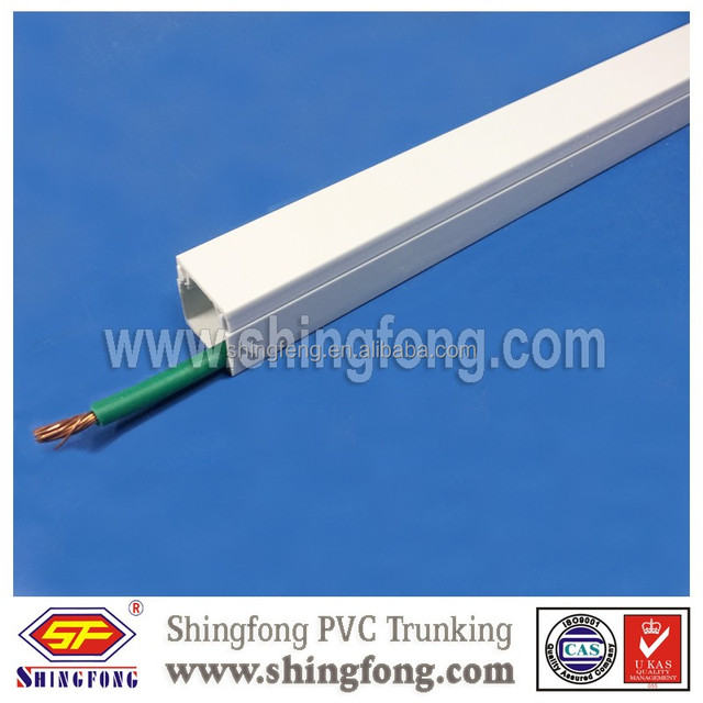 Flame retardant pvc rigid plastic wall wire casing cable duct 12x12/15x10/16x16mm
