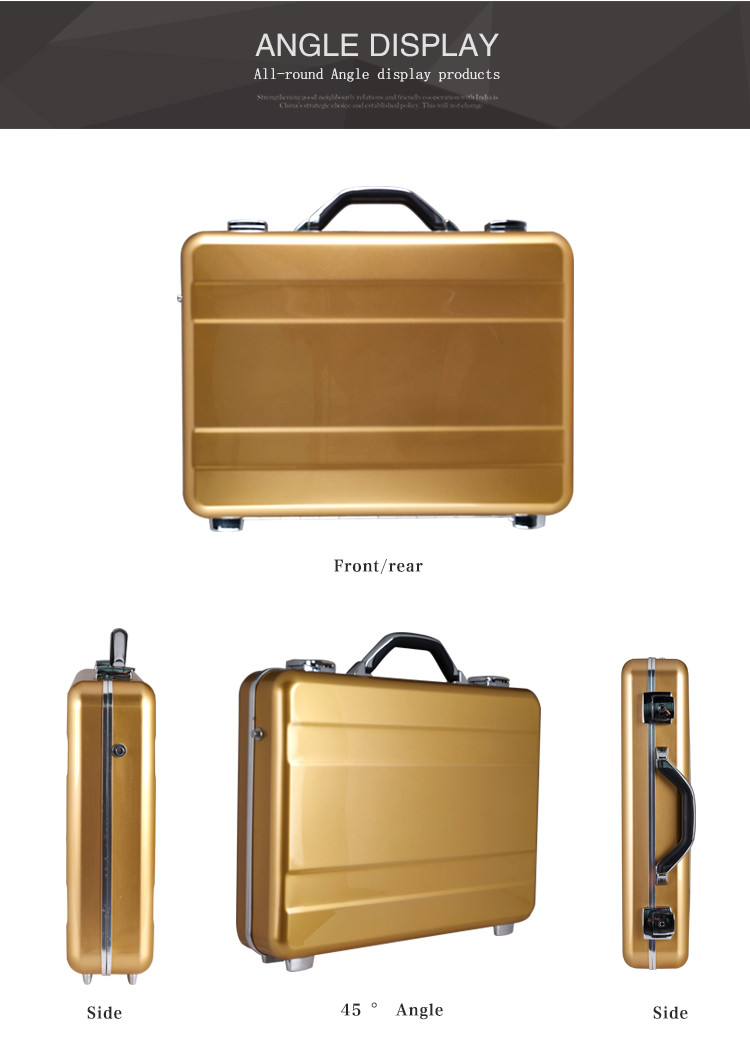 aluminum hard shell briefcase attache case painting finish