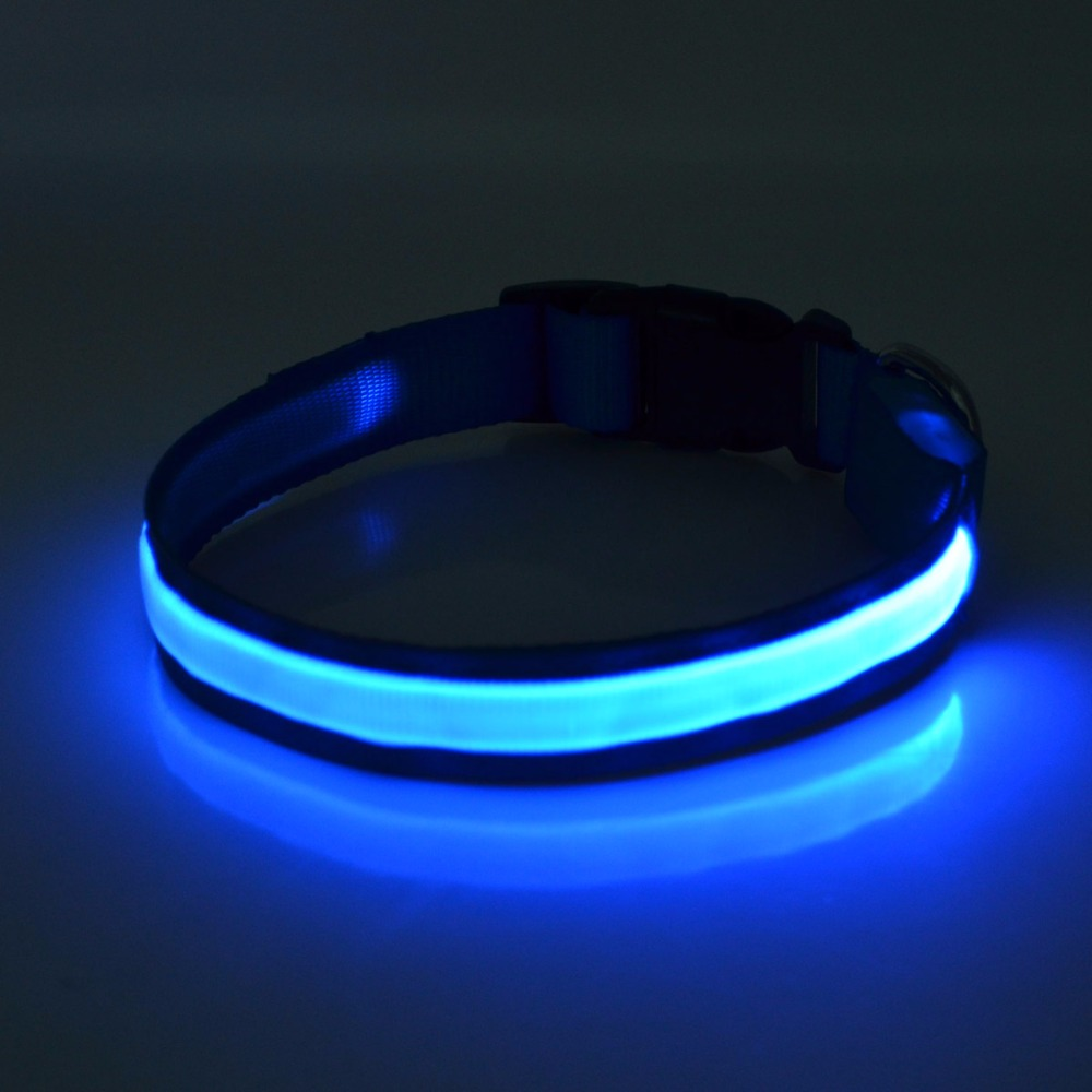 Dog And Cat Accessories Glowing in dark Polyester webbing Dog Super Bright LED Flashing Dog Safety Collar