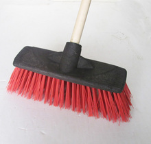 HQ0029 with painted iron handle cheap heavy duty plastic floor street brush