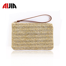 Factory Wholesale Price clutch tote beach woven paper straw bag for women