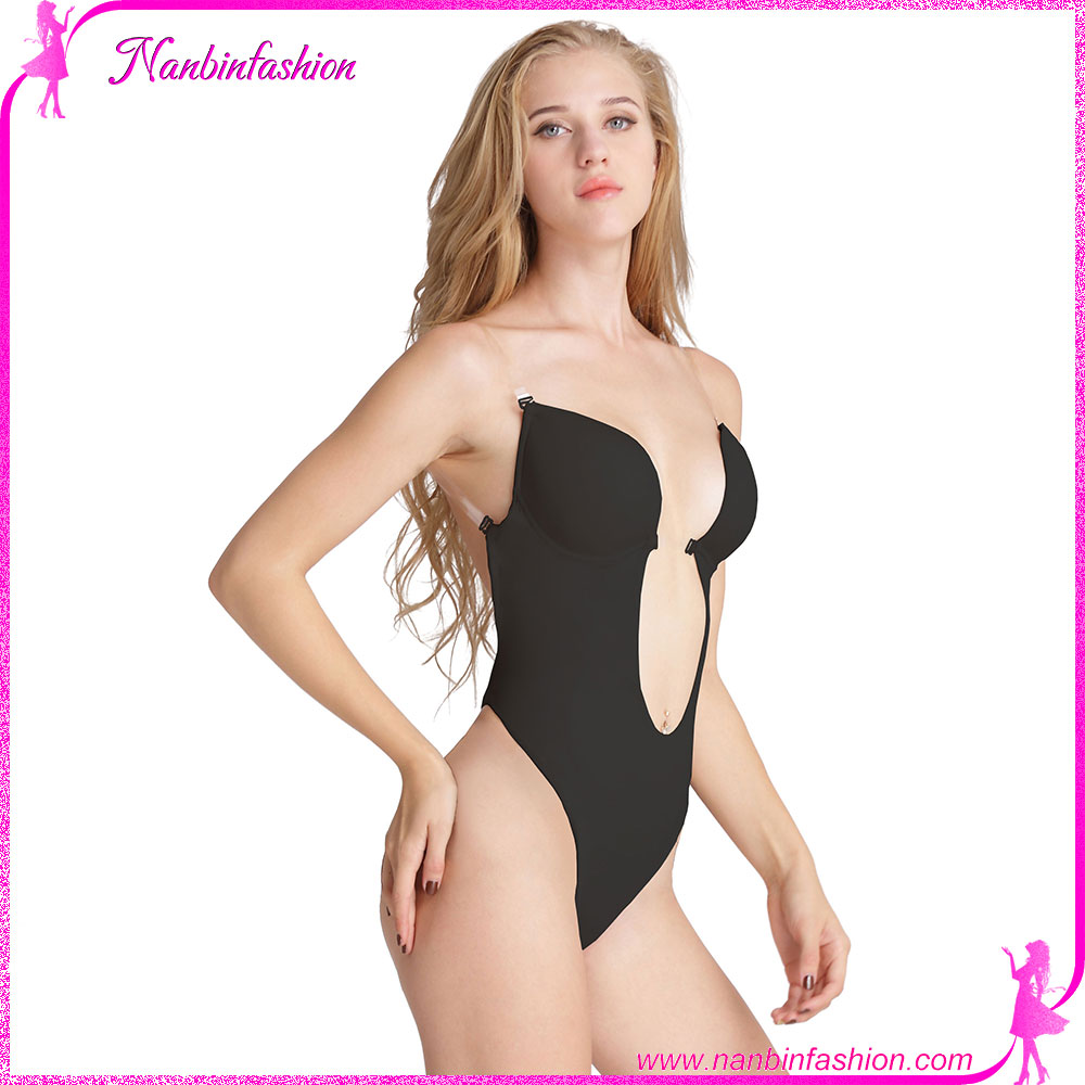 Black open tummy women body shaper underwear