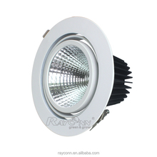 2016 Retail Shop Lighting 20W Cob Led Ceiling Recessed Shop Downlight with Tilting Design