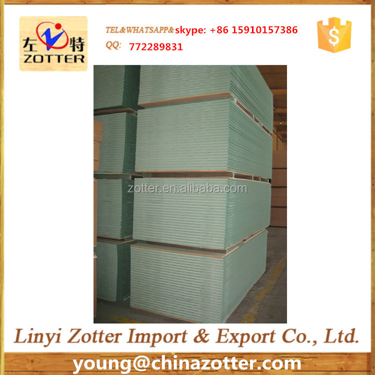 E2 waterproof MDF board/ Green core melamine MDF with cheap price from Zotter with cheap price