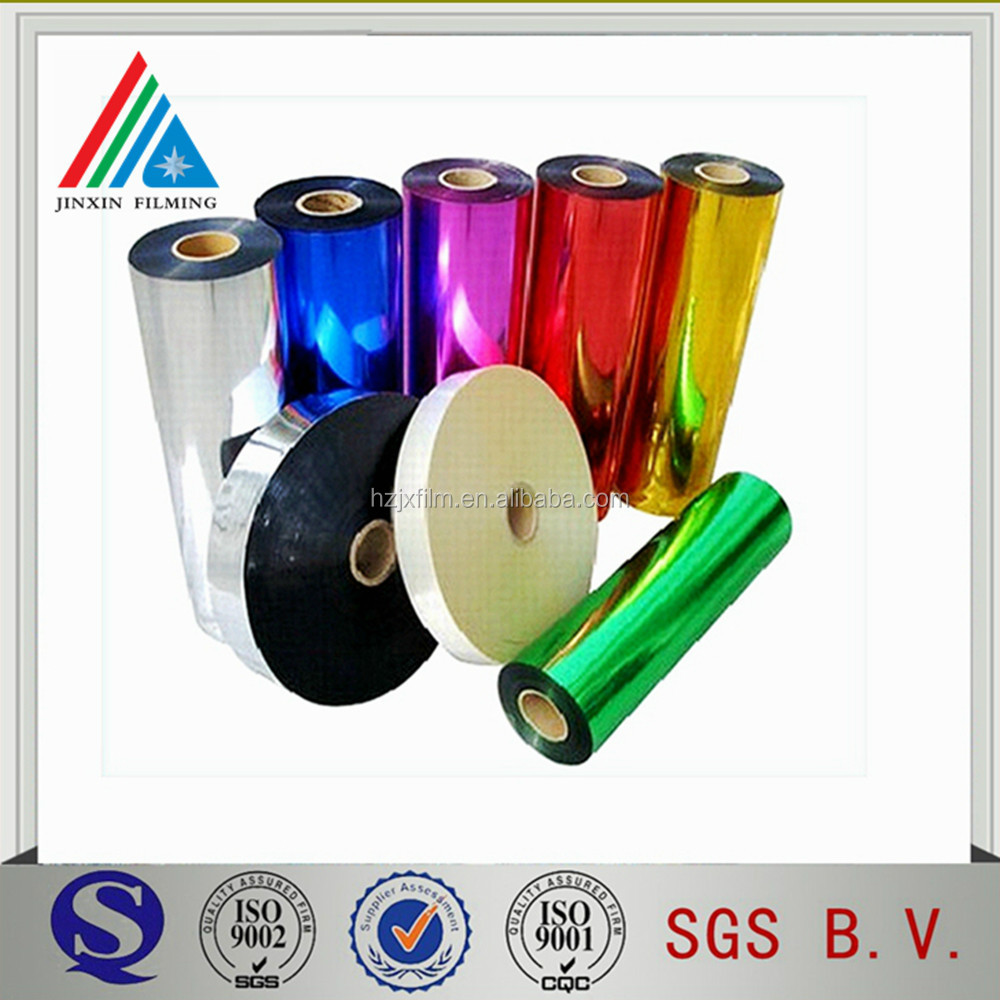 Vacuum Metallized PET film Color coated filmHigh barrier film Reflective film