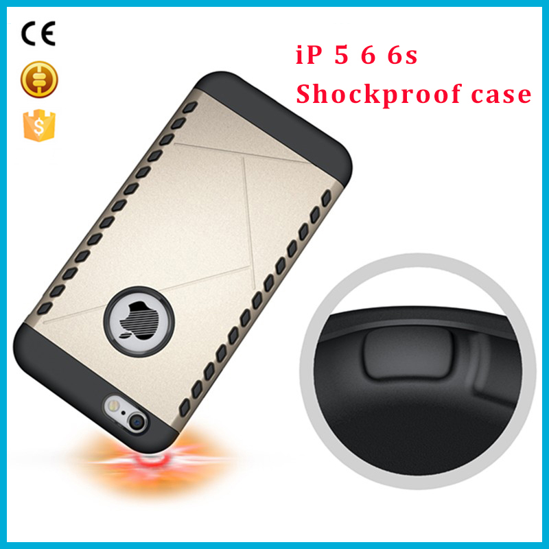 5 .5 inch Shockproof design beautiful mobile phone back cover case for iPhone 5 6 6s 6plus