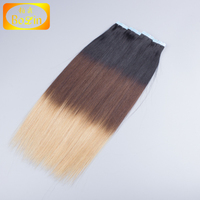 Cheap Ombre European Remy Tape Hair Extensions, 2.5g/pc Ombre Hair Extension,Unprocessed Wholesale Virgin Hair