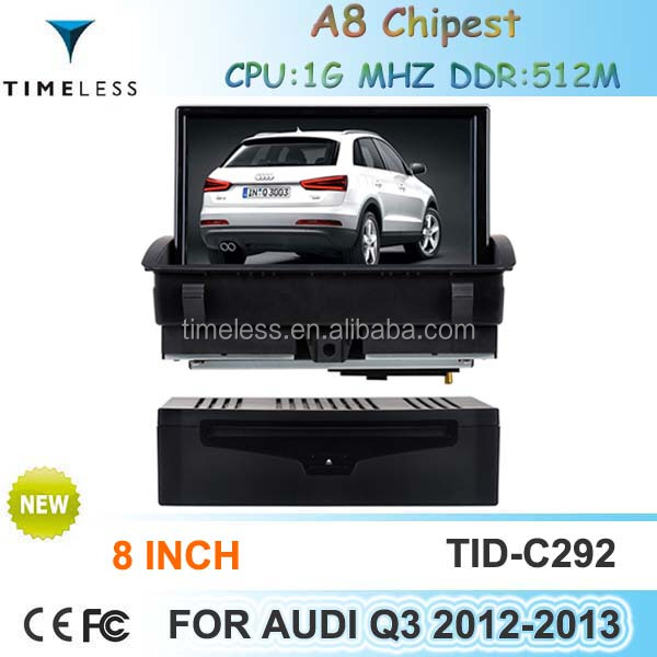 Car Navigator for Audi Q3 2012-2013 with Phonebook iPod RDS BT 3G A8 Chipset CPU 1G MHZ RAM 512MB 4G Memory S100