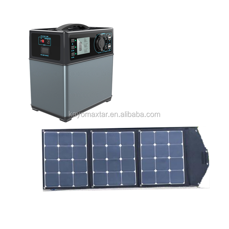 300W mini solar kit with foldable solar panel whole solar system for camping