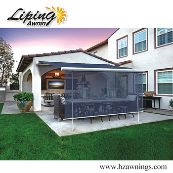 Outdoor Full Cassette Sunshade Retractable Awning with 5 years warranty cover