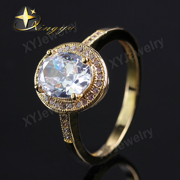 elagant jewelry rings with cz 18k gold jewelry wedding ring for brazil market