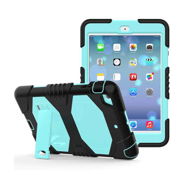 7.9 Inch Tablet Accessories Universal Rugged Tablet Silicone + Hard Pc With Foldable Stand Cover Case For iPad Mini 2