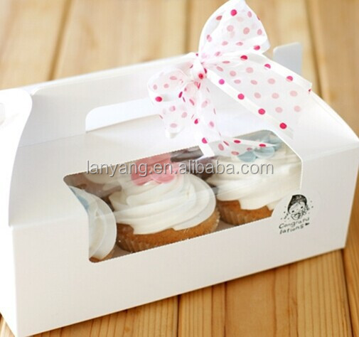 Wholesale cheap Cupcake boxes , Mini cupcake boxes for 2, 4, 6 packs with inserts(BF187)