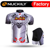 Nuckily Wholesale motorcycle skull design cycling jersey set