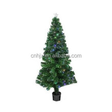 5Ft/150cm Pre-Lit LED Color Changing Fiber Optic Christmas Tree with Star Tree Topper