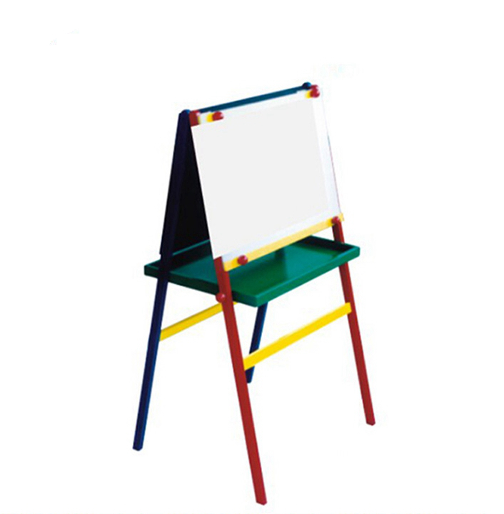 multi-function wooden kids painting toy table easel