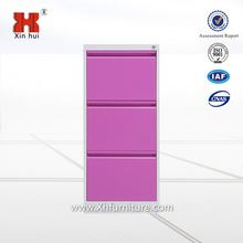 Wide Three Drawers Steel Vertical Cabinet, HeNan Factory Drawer Parts Hanging file Cabinet