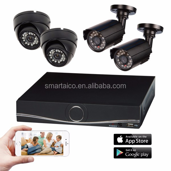 HK-55A4/4BD1-1080 Video Security kit with 4CH 1080P AHD <strong>DVR</strong> and 4pcs Matal 1080P 2MegaPixel CCTV Camera