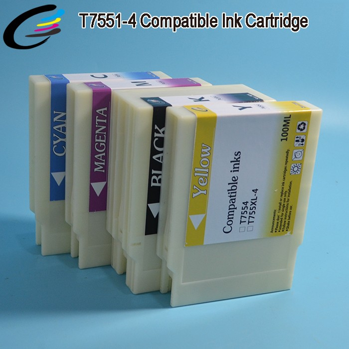 T7551 - T7554 New Printer Ink Cartridge for Epson WorkForce Pro WF-8010DW 8090DW 8510DWF 8590 DTWFC