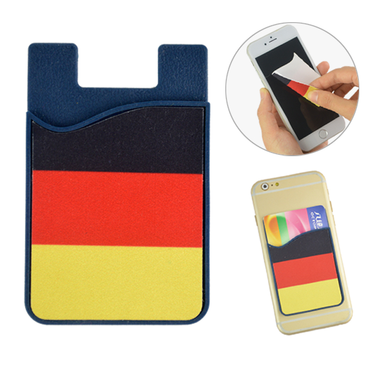 wholesale sticky cleaner with silicone smart phone wallet