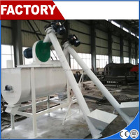 Horizontal poultry animal feed grinder and mixer machine