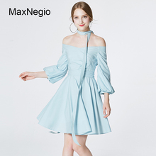 Guangzhou Blank Off Shoulder Pleated 100%Cotton Women Party Dress