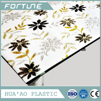 pvc transfer printed laminated table cover with good quality