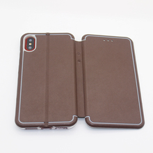 China Manufacturer New Arrival Patent Design Leather Flip Case for iPhone X