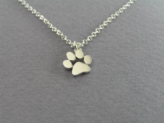 2016 New Choker Necklace Tassut Cat and Dog Paw Print Animal Jewelry Women Pendant Long Cute Delicate Statement Necklaces N191