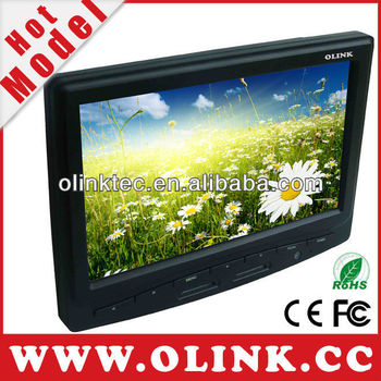 Olink 5, 7, 8, 9.7, 10.2, 12.1 inch touch screen LCD monitor with HDMI, DVI, VGA, 2xAV, S-Video inputs