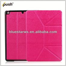 For IPad Air New Arrival Ultra Thin Slim PU Leather Stand Case 2013 New Design Smart Tablet Pc Cover
