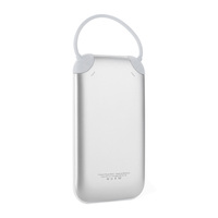 6000mah Slim Portable USB External Battery Charger with Micro USB Cable for USB-Charged Devices (White)
